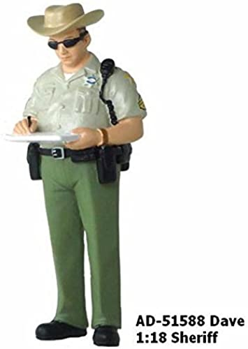 Dave Sheriff Figure For 1 18 Diecast Model Cars 51588 by American Diorama