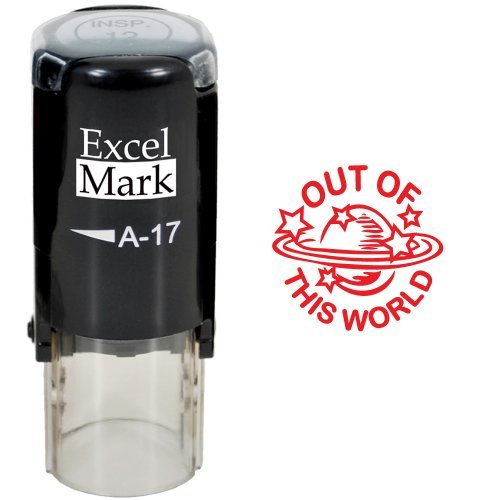 Round Teacher Stamp - Out of This World - RED Ink