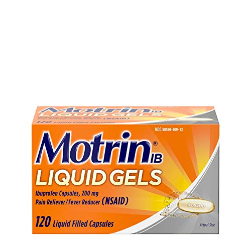 Motrin IB 200mg Ibuprofen Liquid Gel Pain Reliever/Fever Reducer for Aches & Pain, 120 ct