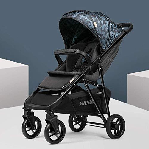OESFL Cochecito de bebé Cochecito for sistemas de viaje, viaje del cochecito de niño plegable carro cochecillo ligero y compacto desde el nacimiento hasta los 25 kg for el recién nacido y del niño, gr