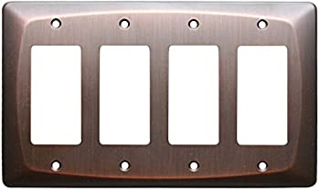 allen + roth Baker Wall Light Switch Plate Quad Rocker Toggle GFCI Cover Dark Oil-Rubbed Bronze 4 Gang
