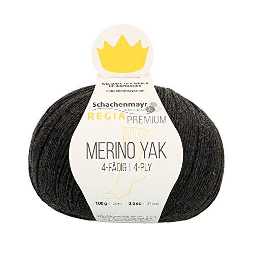 Schachenmayr REGIA Handstrickgarne Premium Merino Yak, 100g Anthrazit