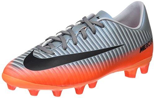 Nike Mercurial Vapor XI CR7 AG-Pro, Botas de fútbol Unisex niños, (Cool Grey/Mtlc Hematite/Wolf Grey/Total), 38 EU