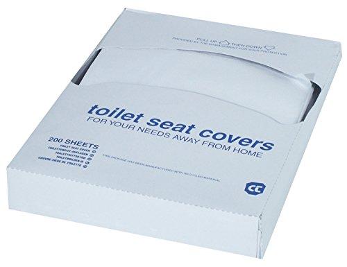 Paquete pequeño de 200 protectores  desechables para inodoro, para utilizar en dispensador dispensador
