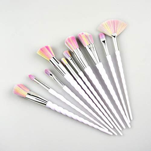 KERVINFENDRIYUN YY4 4pcs de la brosse ombre à paupières sertie d'une brosse de combinaison - rose. (Couleur : Silver)