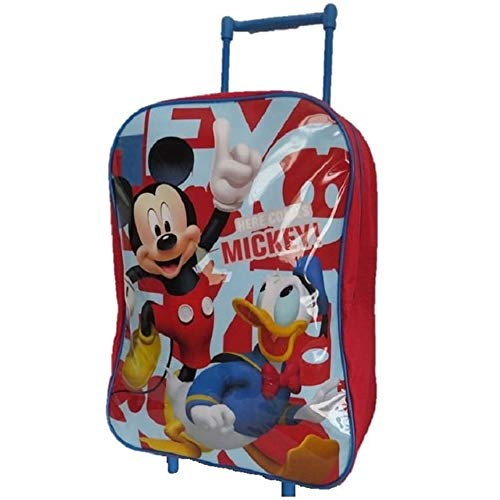 Childrens Trolley Suitcase Cabin Bag Backpack Disney Toy Story Frozen Spiderman (Mickey Mouse & Donald Duck)