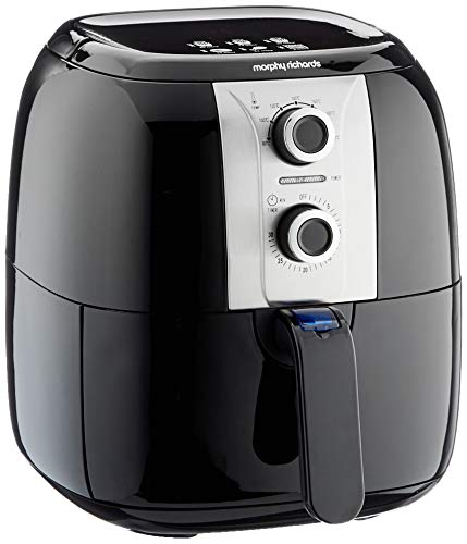 An image of the Morphy Richards 480003 Health Fryer, Plastic, 1400 W, 3 liters, Black