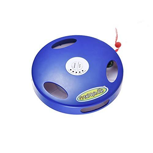 猫 おもちゃ 電動猫じゃらし 電動ぐるぐる 猫用品 キャットトイ 5つモード 電動 猫 おもちゃ ねずみ声モー...