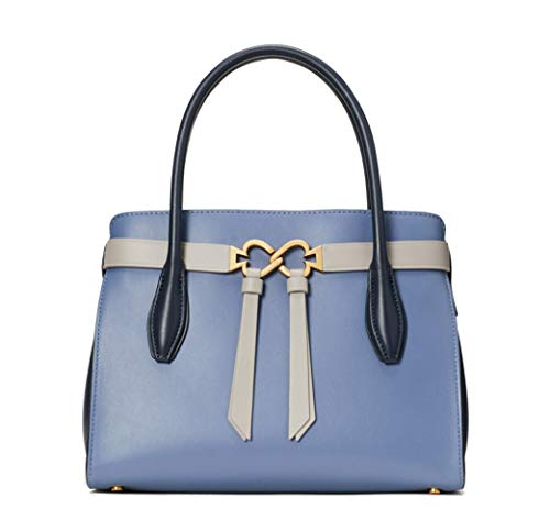 Kate Spade New York Toujours Medium Leather Satchel, Celestial Blue Multi