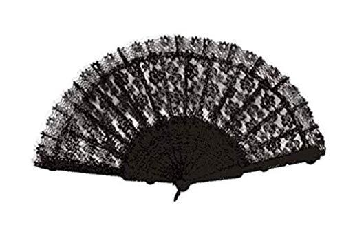 Forum Novelties, Inc Womens Black Lace Fan S