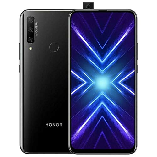 "Honor 9X (128GB, 6GB) 6.59"", 3 AI Cameras, 4000mAh Battery, Dual SIM GSM Unlocked US + Global 4G LTE International Model STK-LX3 (Black, 128GB + 64GB SD + Case Bundle)"