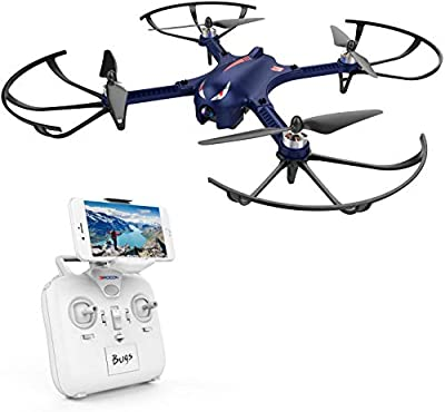 DROCON Bugs 3 Powerful Brushless Motor Quadcopter High Speed Flying Gopro Drone for Adults and Hobbyists, Blue from DROCON