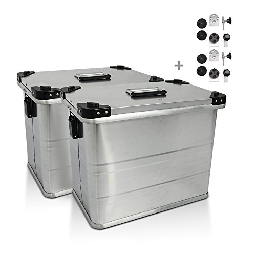 Aluminium Side cases Set Gobi 45l with mounting kit for 16mm luggage carriers for Yamaha T-max 500/530, Tenere 700