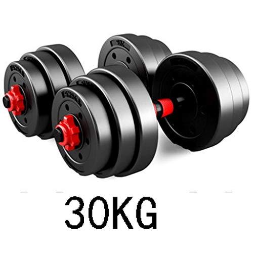 Dumbbell Fitness 20kg-40kg Nero Nuovo regolabile manubri set di manubri fitness Esercizio staccabile manubri Peso Bilanciere attrezzature for il fitness Combinazione di Manubri ( Dimensione : 30KG )