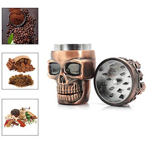 Jourbon Molinillo De Hierbas King Skull Ancient Crowned King Skull Trituradora De Polen para Especias, Café, Hierbas, Hierbas, Especias Dispensador De Especias para Aderezo