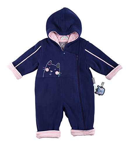 Sigikid Baby-Mädchen Fleece Overall, Strampler, Blau (Infinity 286), 74