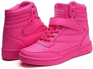 Catata Women's Hidden Heel Sneakers PU Leather High Top...