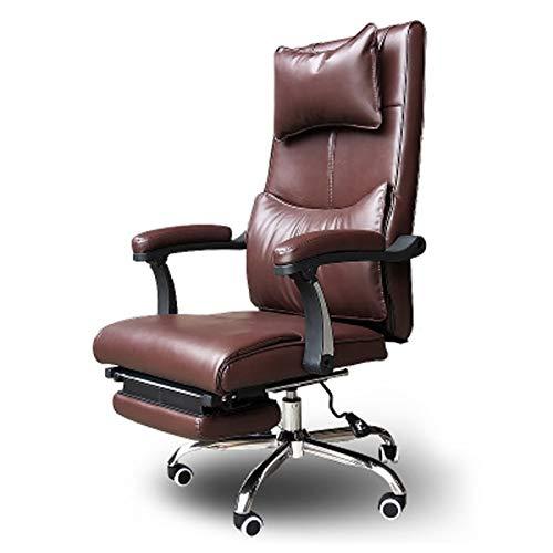 Silla de oficina ergonómica silla de oficina cómoda silla de oficina sedentaria silla reclinable hogar jefe giratorio silla con respaldo escritura silla