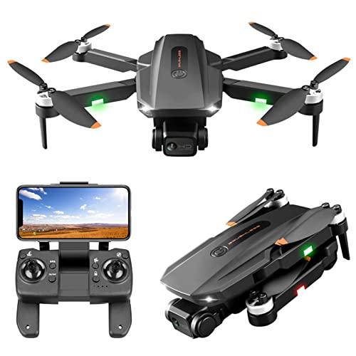 JJDSN Drone con Fotocamera 6K per Adulti, 3 km GPS 5G WiFi FPV Quadcopter Pieghevole 75 Minuti di Volo Lungo, Motore Senza spazzole, Ritorno Automatico a casa, seguimi, Posizionamento del Flusso o