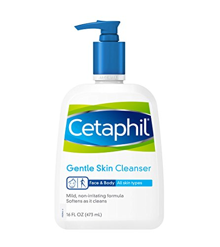 Cetaphil Gentle Cleanser for All Skin Types,  (pack of 2, 16oz)