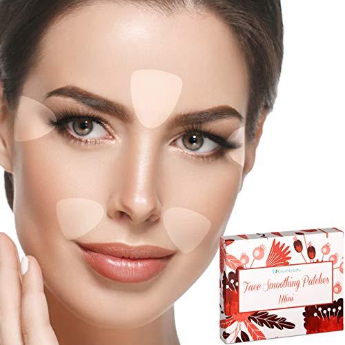 Blumbody parches antiarrugas faciales - 160 tiras triangulares para suavizar las arrugas de la cara, tratamiento nocturno antiarrugas
