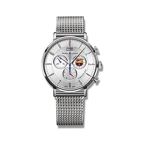 Maurice Lacroix Herren Chronograph Quarz Uhr mit Edelstahl Armband EL1088-SS002-120-1