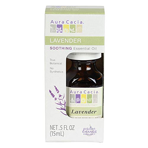 Aura Cacia 100% Pure Lavender Essential Oil | GC/MS Tested for Purity | 15 ml (0.5 fl. oz.) in Box | Lavandula angustifolia