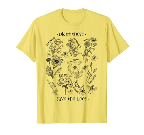 Plant These Save The Bees Shirt Yellow T-Shirt