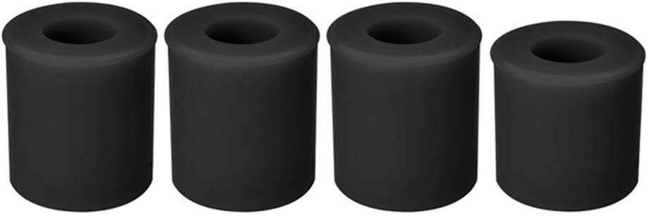 Leveling Silicone Column Set,3D Printer Accessories 3D Printing for 3 CR10 CR10S Hot Bed Leveling Column Shock Absorption Solid Spacer Leveler(Black)