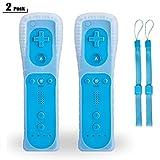 Wii Remote Linker Controller,TechKen WiiFernbedienung Joystick Wii Remote Game Control mit Silikonhülle Handschlaufe für Wii