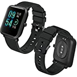 Th-some Correa para Amazfit Bip Impermeable Universal - Reemplazo de Pulsera Ajustable para Xiaomi Huami Amazfit Bip bit Lite Youth/Amazfit GTR 42mm Watch, Negro Sin Tracker