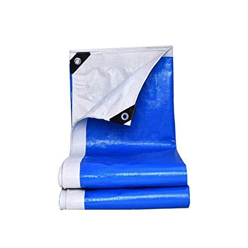 KAISIMYS Gran jardín para Acampar Sombrillas de Lona de Polietileno Azul Depósito Impermeable Cubierta Grande para Todo Uso para Carpa de Piscina Carpa para Excursionistas Lona para Acampar Lonas par