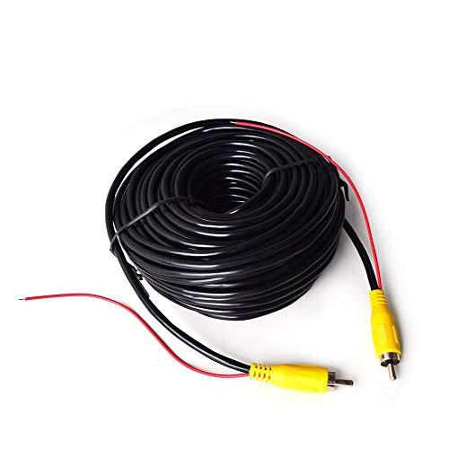 Coche RCA Vídeo Cable para Reversa Vista Trasera Aparcamiento Cámara con Detección Alambre Inversa Gatillo Plomo - 20 Metros / 65 FT