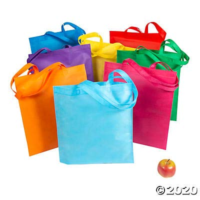Large Reusable Grocery Tote Bag Assortment | 48 Pieces | Favors, Giveaways, Rewards, Gifts, Takeaways, Kid's Birthday, Vacation Bible Study, Easter
