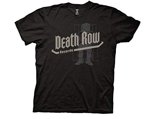 Ripple Junction Death Row Records Adult Unisex Text Light Weight 100% Cotton Crew T-Shirt X-Large Black