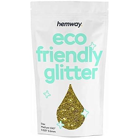 Hemway Umweltfreundlicher Biologisch Abbaubarer Glitter Extra Klobig 1 Mm 1 24 0 04 Bio Kosmetik Sicher 100 G Champagner Beauty