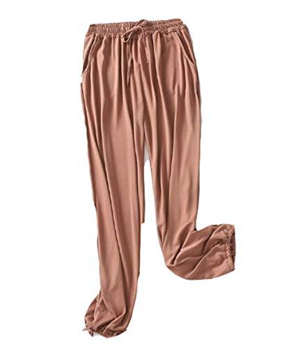 DSJJ Pantaloni della Tuta da Donna, con Coulisse, per Yoga, Corsa, Jogging (1#,L)