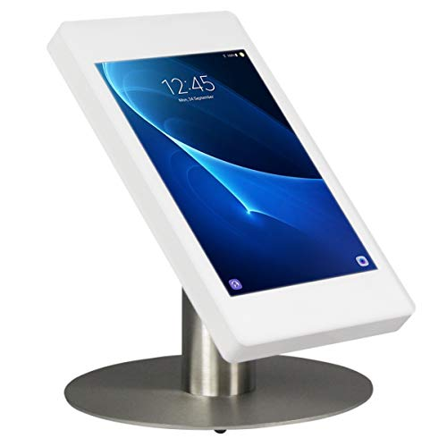 Tablet desk stand Fino for Samsung Galaxy Tab S 10.5 - white/stainless steel- camera visible
