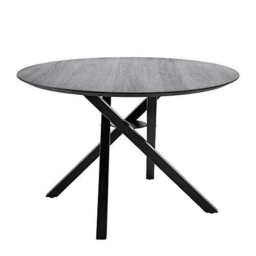Bloomingville Table à manger Connor, noir, bois de chne