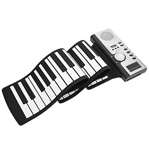 Piano à enroulement 61 touches Silicone souple Clavier de piano électrique avec haut-parleur Piano à main électronique Piano à clavier portable Cadeau pour les enfants débutants