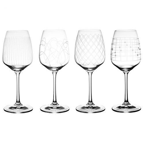 Table Passion - Boite de 4 verres eau giselle gravés 45 cl