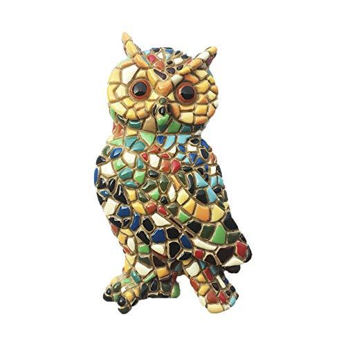 Imán para nevera con diseño de búho en 3D, hecho a mano para decoración del hogar y la cocina, colección de imanes