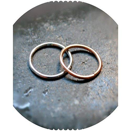 Septum Ring small dainty teeny, Tiny Hoops Earrings or body piercings - Gold and Silver Dainty Sterling Silver Twisted Wire Toe Ring - Solid 925custom made by custom jewelry
