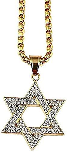 NC188 Collar Religión Collar de Estrella de David Collar étnico Hebreo Collar de joyería judía