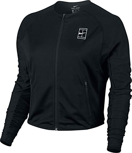 Nike Damen Court Jacket Women Trainingsanzüge, schwarz, L