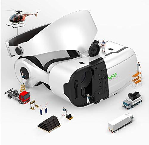 VR Occhiali 3D, Occhiali Virtuali 3D, Virtuale Realtà Occhiali per Giochi E Film 3D, Blu-Ray Lens Protection, con Wireless Bluetooth Telecomando, Compatibile con Tutti Gli Smartphone da 5 A 7 Pollici