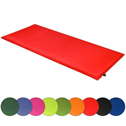 ALPIDEX Isomatte Selfinflating Matte Selbstaufblasende Outdoor Thermomatte in Verschiedene Größen und Farben, Farbe:rot, Maße:200 x 66 x 6.0 cm