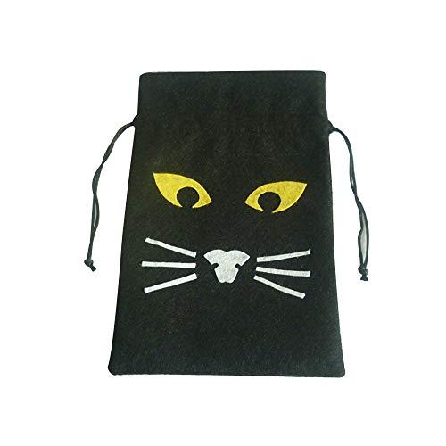 Erduo Einzigartiges Design im Cartoon-Bild Halloween-Geschenktüte Kürbis Schwarze Katze Weiße Ghost Bunch Tasche Ghost Festival Candy Bag - Schwarze Katze