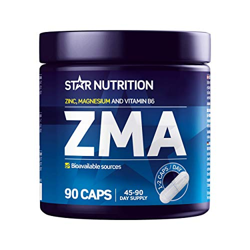 Star Nutrition | ZMA Tablets | ZMA Supplement for Women and Men | Zinc & Magnesium Capsules, Supports Immune System & Muscles, Improve Metabolism, Muscle, Health & Sleep | 90 ZMA Capsules