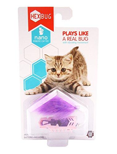 HEXBUG Nano Robotic Bug Cat Kitten Motorized Toy Purple/Pink